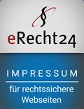 eRecht 24 Siegel Impressum blau